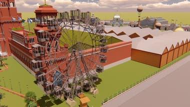 La rueda de la fortuna entretuvo a los 50.000 visitantes que concurrieron a la Exposición entre el 17 de julio de 1910 y el 3 de enero de 1911.