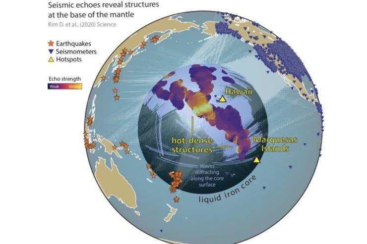 Científicos hallan enormes estructuras no identificadas cerca del centro de la Tierra 6