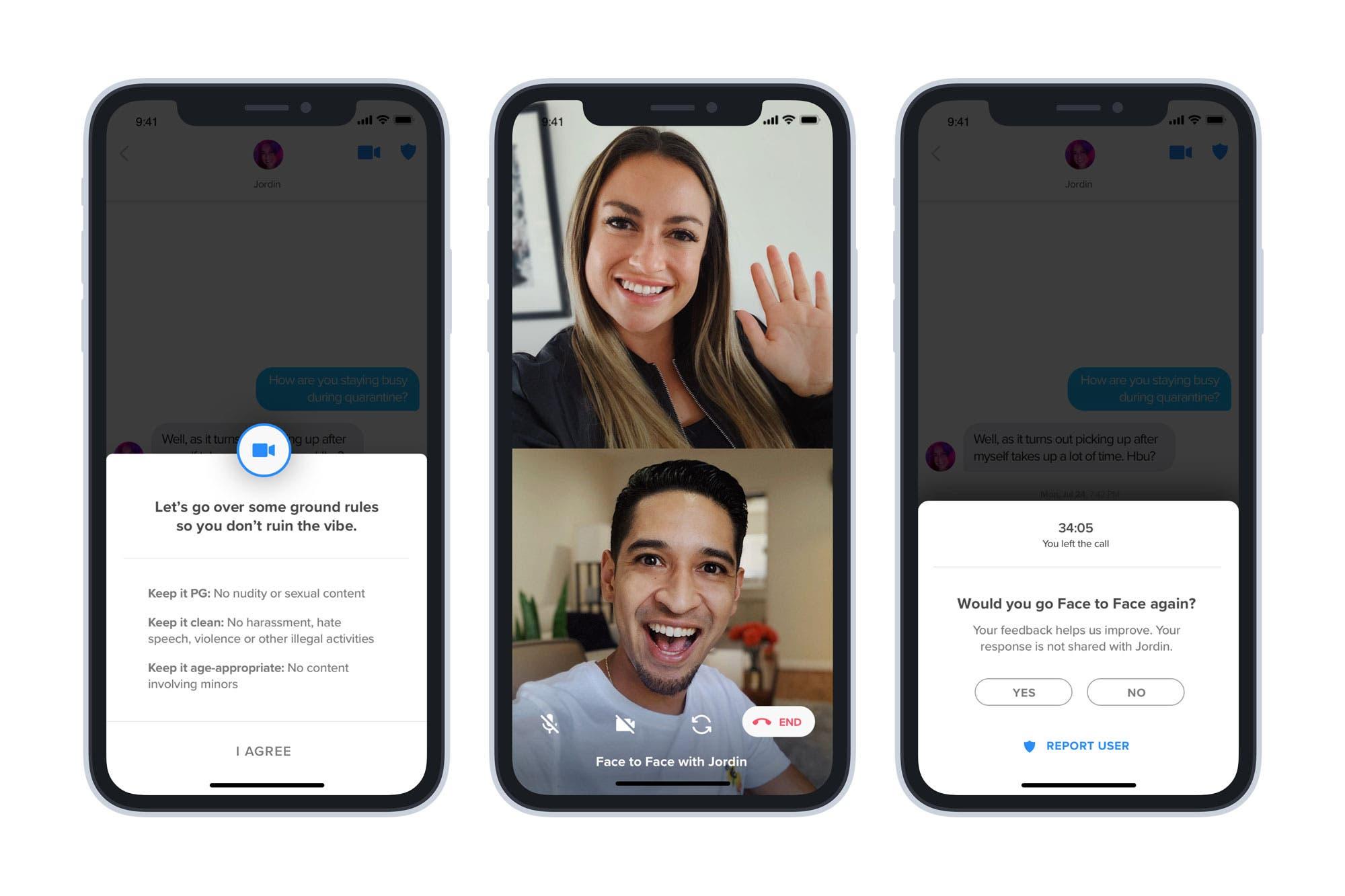 Face to Face: así funcionan las citas con videollamadas de Tinder