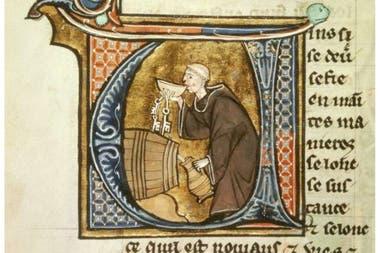Iluminación de un libro del médico Aldebrandín de Siena (siglo XIII). British Library