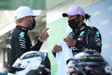 Lewis Hamilton y Valtteri Bottas consiguieron un nuevo 1-2 para Mercedes en la clasificación del GP de España