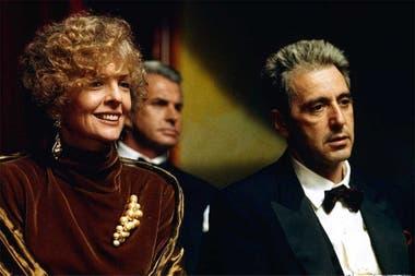 Diane Keaton y Al Pacino, en una escena del final de la trilogía