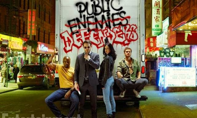 Luke Cage, Daredevil, Jessica Jones y Iron Fist, los integrantes de The Defenders