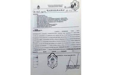 El informe de la policía que da cuenta del nombre de la red Wi Fi