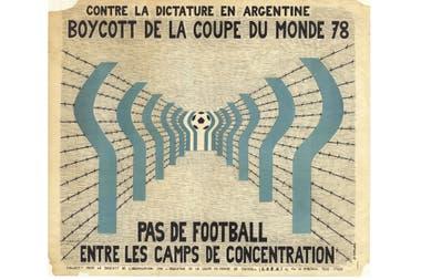 Un afiche de la época, en contra de la dictadura argentina