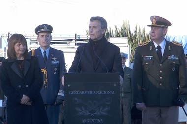El presidente Mauricio Macri apoyó la labor de la Gendarmería
