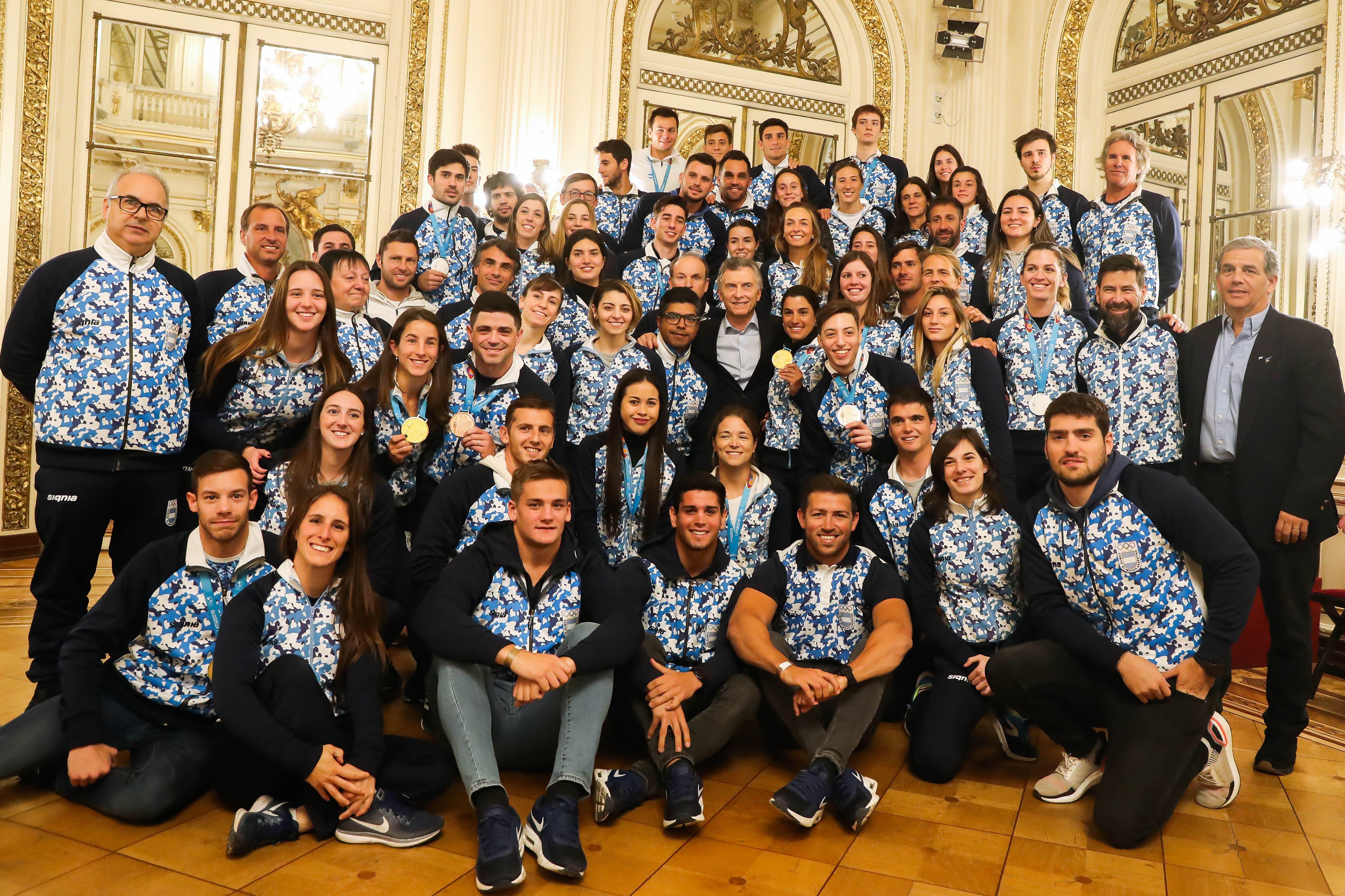 Qué les dijo Mauricio Macri a los atletas argentinos que participaron de los Juegos Panamericanos