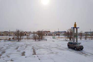 El paisaje helado durante el viaje a bordo del Transmongoliano entre Ulan Bator y Beijing