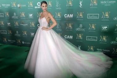 Pampita Ardohain con vestido de Jorge Rey