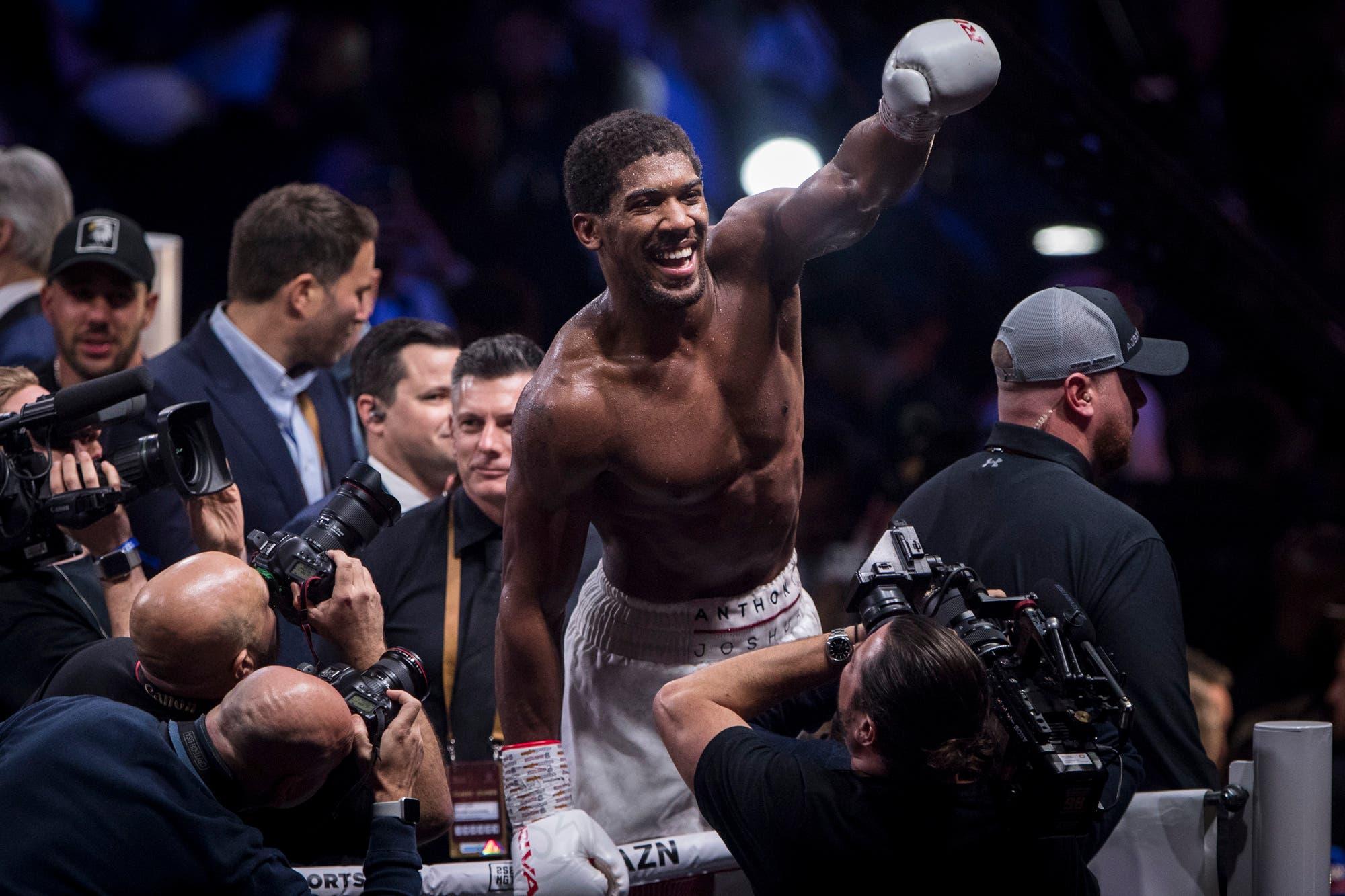 Anthony Joshua aprendió la lección, boxeó desde lejos a Andy Ruiz y recuperó los títulos mundiales de los pesados