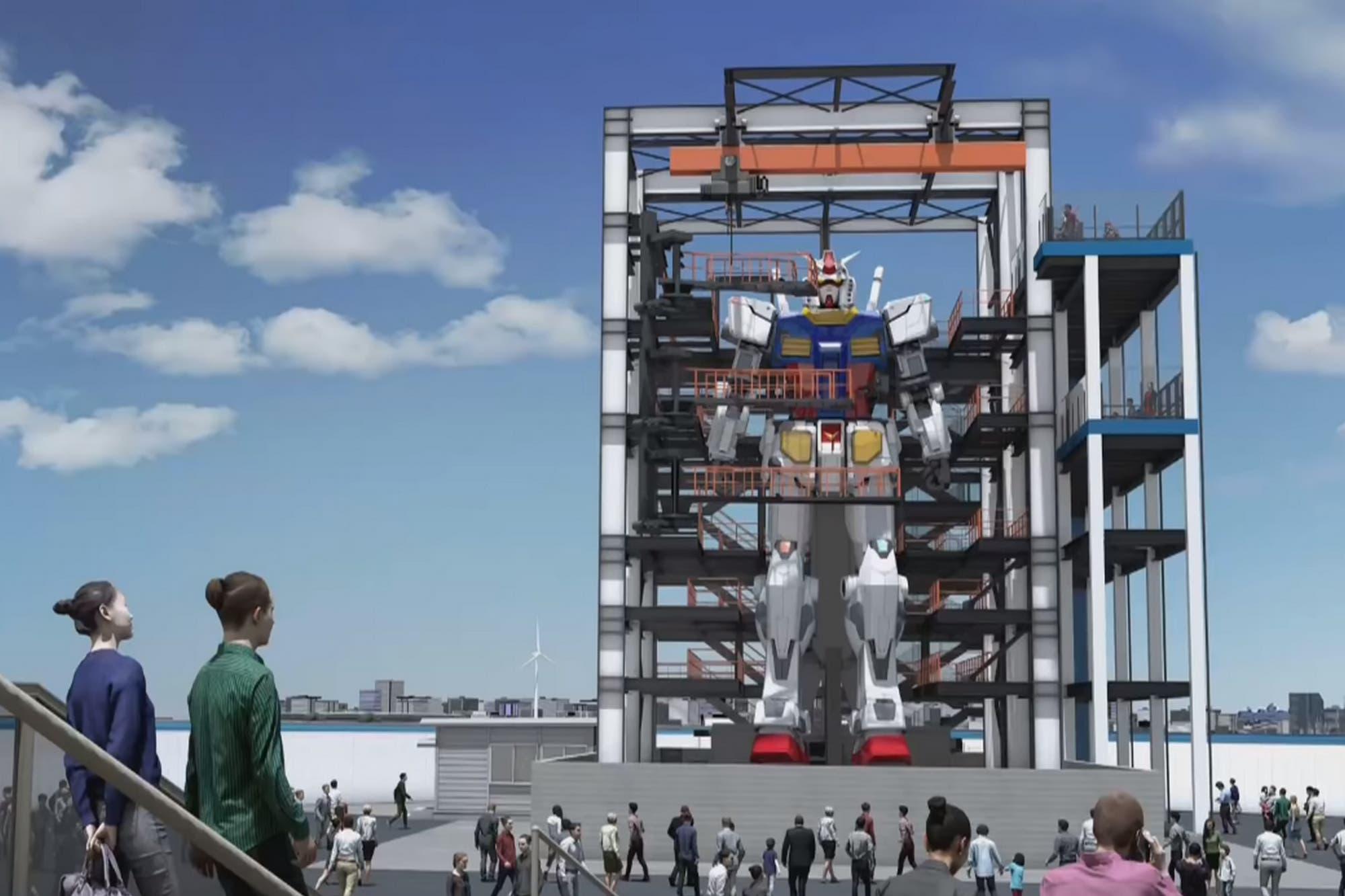 Gundam: Japón construirá un robot de 18 metros de altura que puede caminar