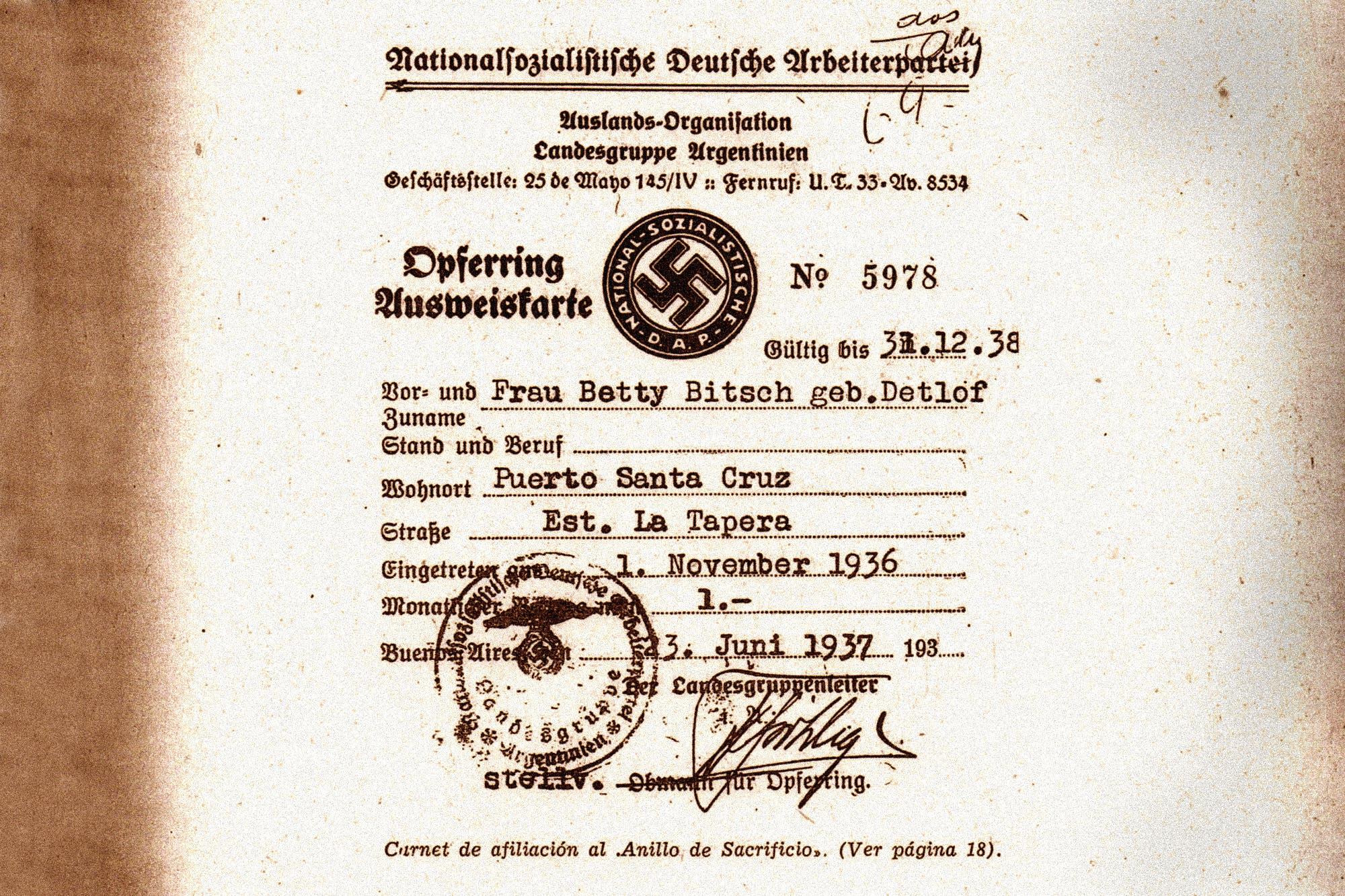 Documento: la lista que revela el dinero de los nazis argentinos