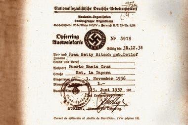 El documento, fechado a fines de los años ´30 y principios de los ´40 contiene los nombres de 12 mil personas y empresas adheridas a la filial local del partido nazi