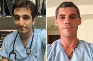Ramiro Federico Bassi y Patricio Walmsley, médico y enfermero respectivamente, murieron en la tragedia aérea de Esquel