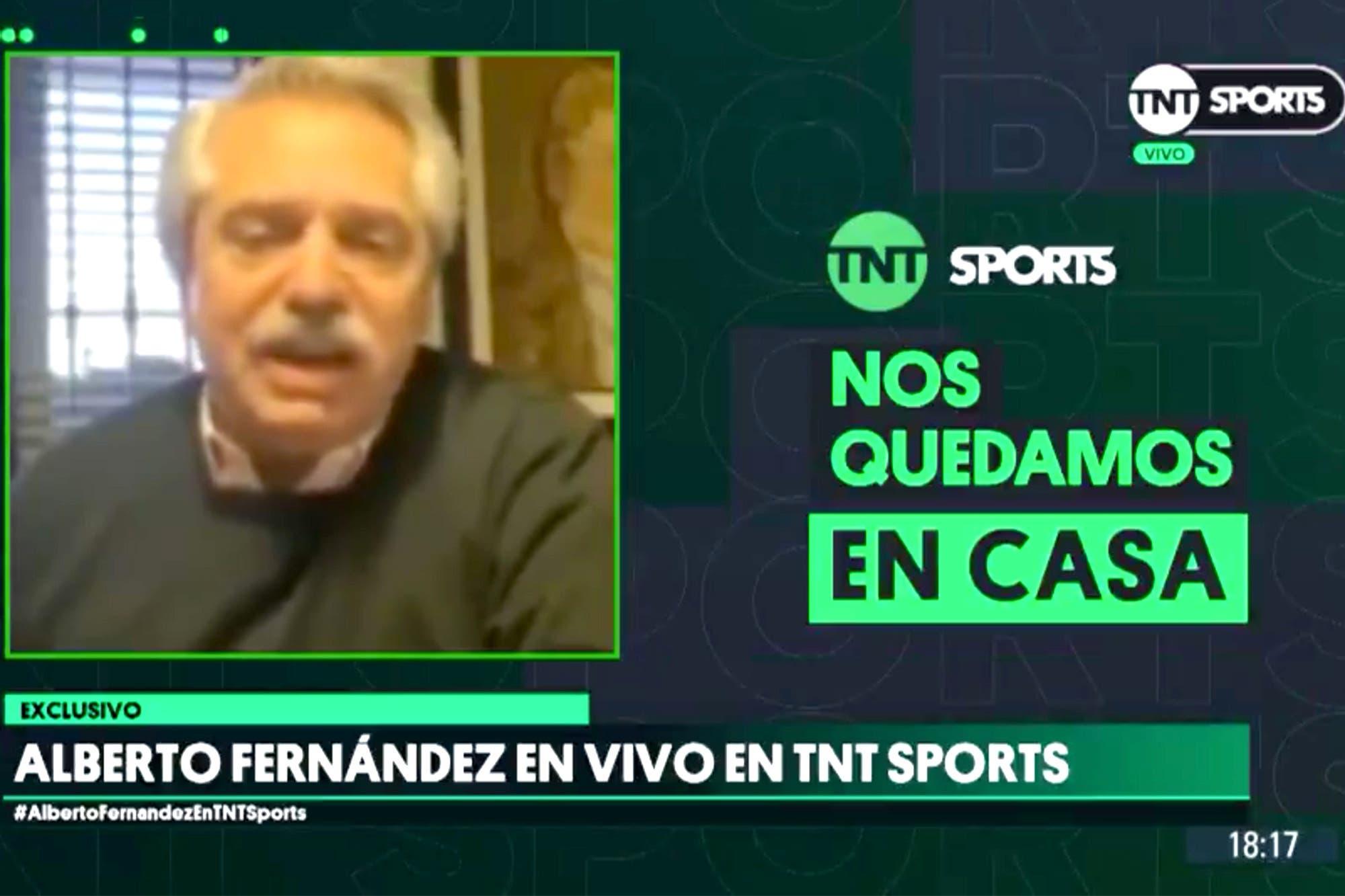 Coronavirus. Alberto Fernández hizo público su deseo de que pronto vuelva el fútbol