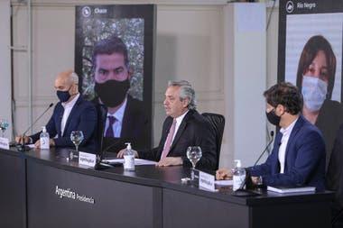 Larreta, Fernández, Kicillof, Capitanich y Carreras