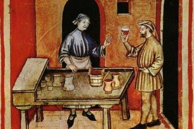 Miniatura del Tacuinum Sanitatis, un manual médico de la Edad Media
