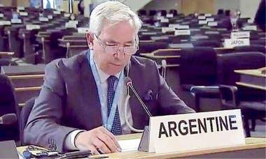 Federico Villegas, al exponer ante la ONU