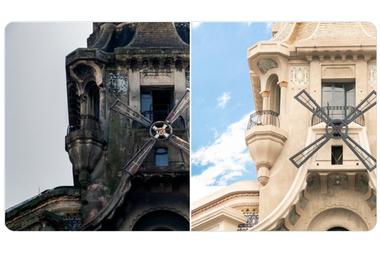 Así luce la fachada del Edificio del Molino luego de la restauración