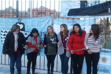 El acampe de familiares en la Plaza de Mayo