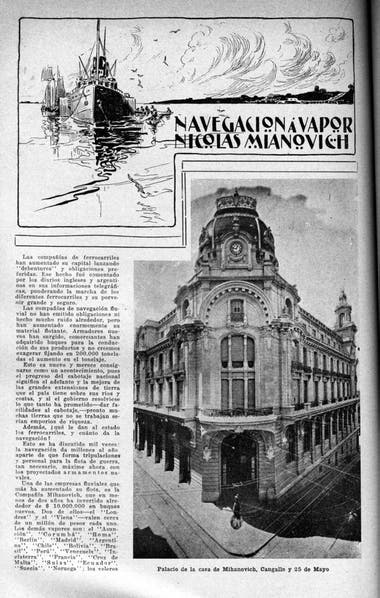 El edificio de la esquina de 25 de Mayo y Perón, donde funcionó el lujoso Palace Hotel.