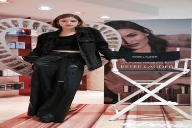 La actriz Malena Villa, en el evento de Esteé Lauder