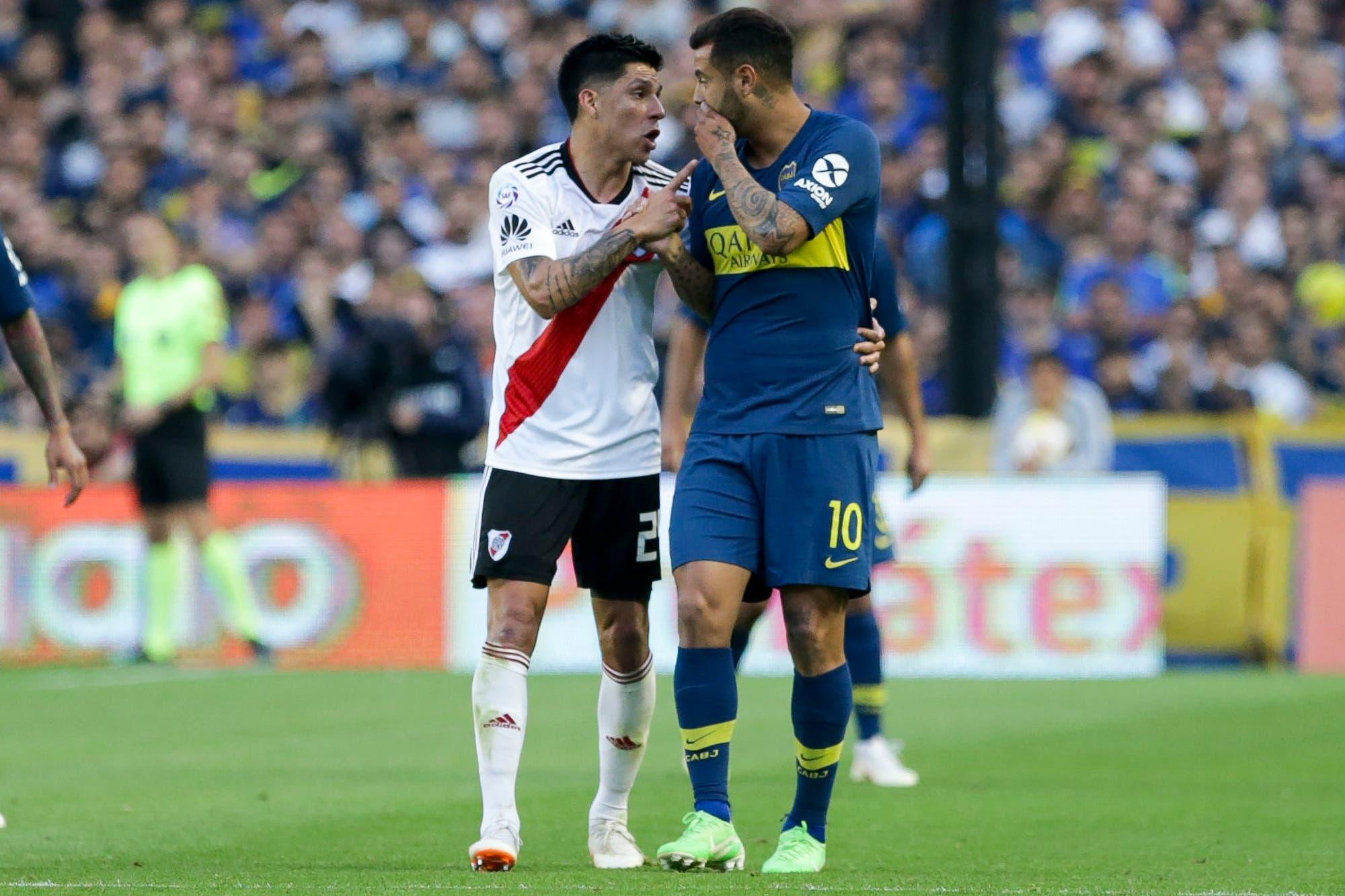 Enzo Pérez: la charla con Cardona después de la agresión y la cámara que lo siguió todo el superclásico