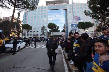 El banderazo de Boca en Madrid