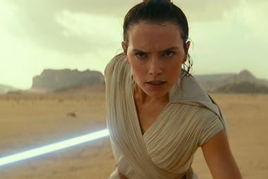 Daisy Ridley, en una escena de la próxima entrega de Star Wars