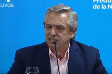 El Presidente en la conferencia de prensa esta noche desde la Quinta de Olivos