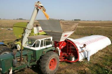 En el silobolsa se almacena más de la mitad de la cosecha