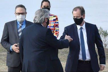 Gustavo Bordet estuvo con el presidente Alberto Fernández el viernes, en Santa Fe