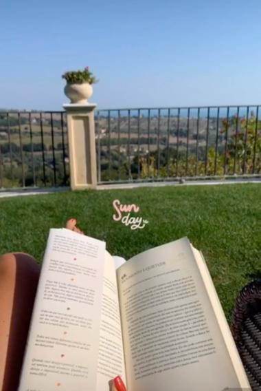 La vista desde el jardín de Maxi López y su novia.