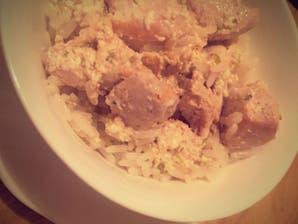 Pollo al yogur con lima