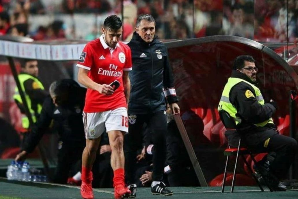 Salvio salió lesionado el 3 de febrero ante Rio Ave