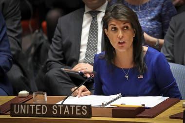 Nikki Haley, embajadora de los Estados Unidos en la ONU