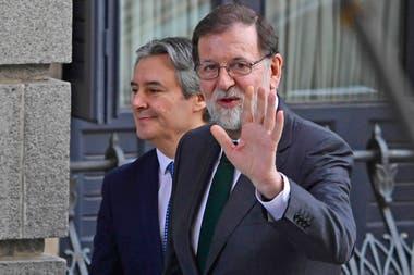 Mariano Rajoy al llegar a Congreso de los Diputados