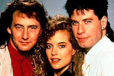 Arye Gross, Kelly Preston y John Travolta, en Los Expertos