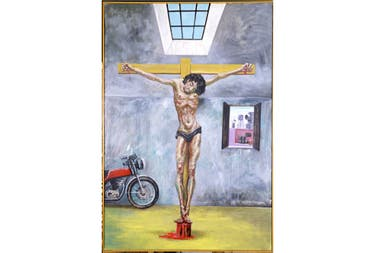 Cristo en el Garaje, Antonio Berni, 1981