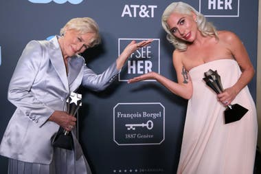 Lady Gaga y Glenn Close compartieron premio