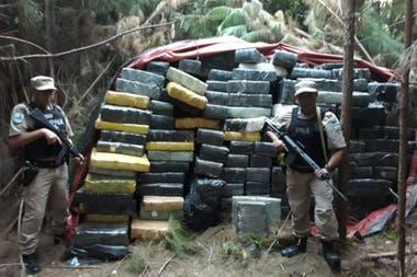 Es uno de los mayores cargamentos de marihuana encontrado en los últimos tiempos