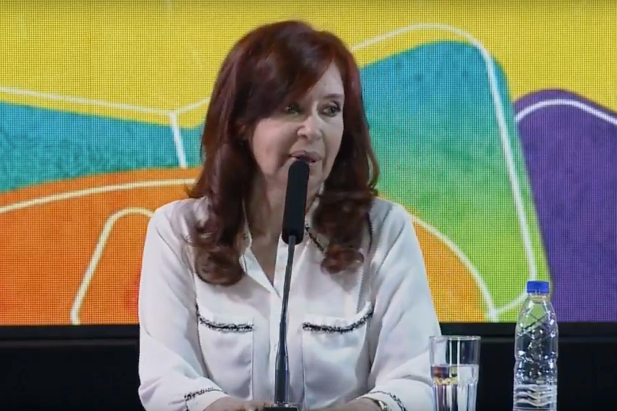 """La sala Borges y el canto que marcó la noche: """"Cristina Presidenta"""""""