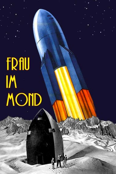 El poster del film La mujer en la Luna
