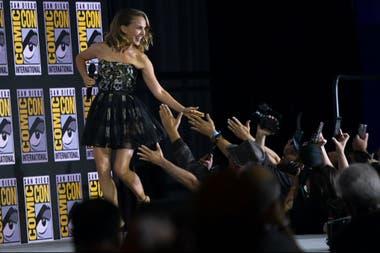 Natalie Portman con sus fans en la convención