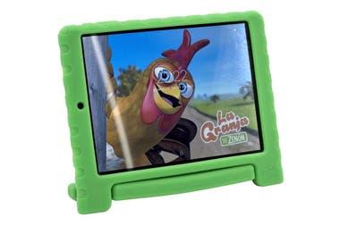 """Para los más chiquitos. La tablet Granja de Zenon Kids, de Cirkuit Planet, cuenta con una funda que la protege de caídas e incluye la aplicación de la serie de videos animados. Su pantalla es de 7,85"""" y tiene dos cámaras, una frontal de 2 MP y otra trasera de 5 MP ($3999)."""
