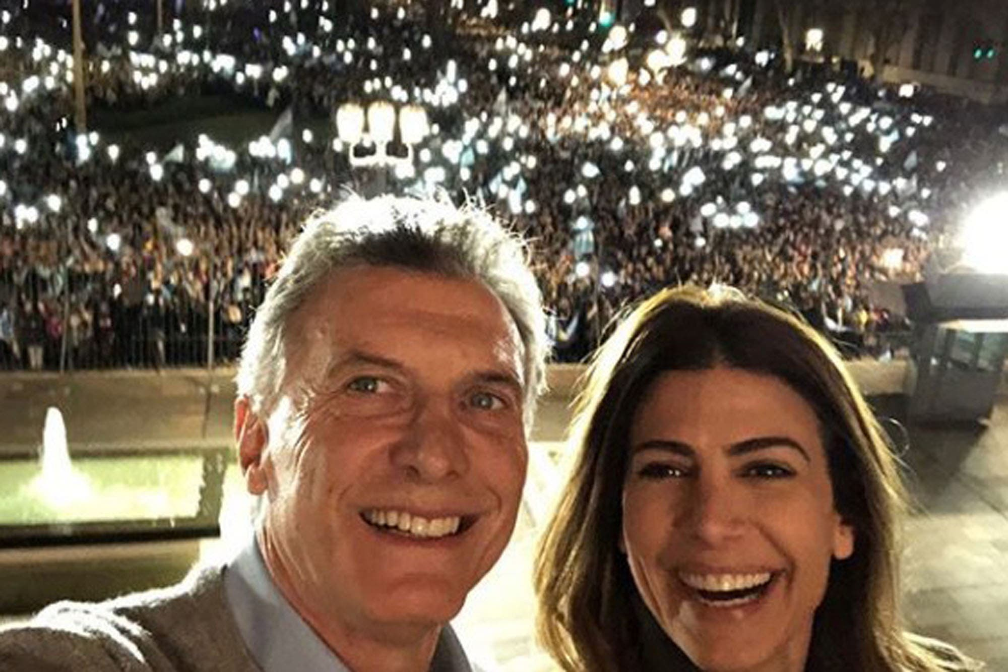 #24A: Así vivió Mauricio Macri la masiva concentración en su apoyo en la Plaza de Mayo