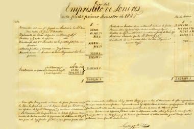 El primer empréstito internacional, tomado en 1823