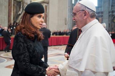 En 2013 el Papa recibió a Cristina