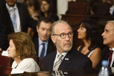 El presidente de la Corte, Carlos Rosenkrantz, durante el acto de asunción de Alberto Fernández