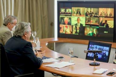 Alberto Fernández participó de foma virtual de la última cumbre del Mercosur